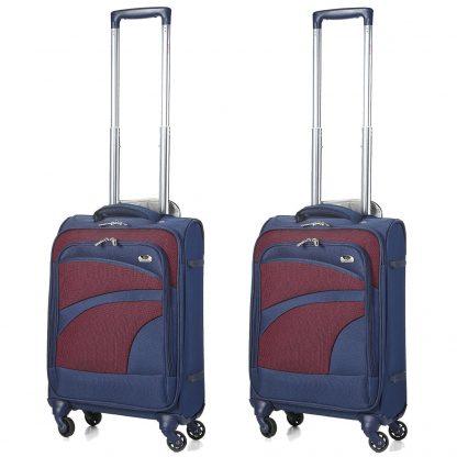 Aerolite Ultra Lightweight Suitcase 4 Wheel Spinner Set of 2