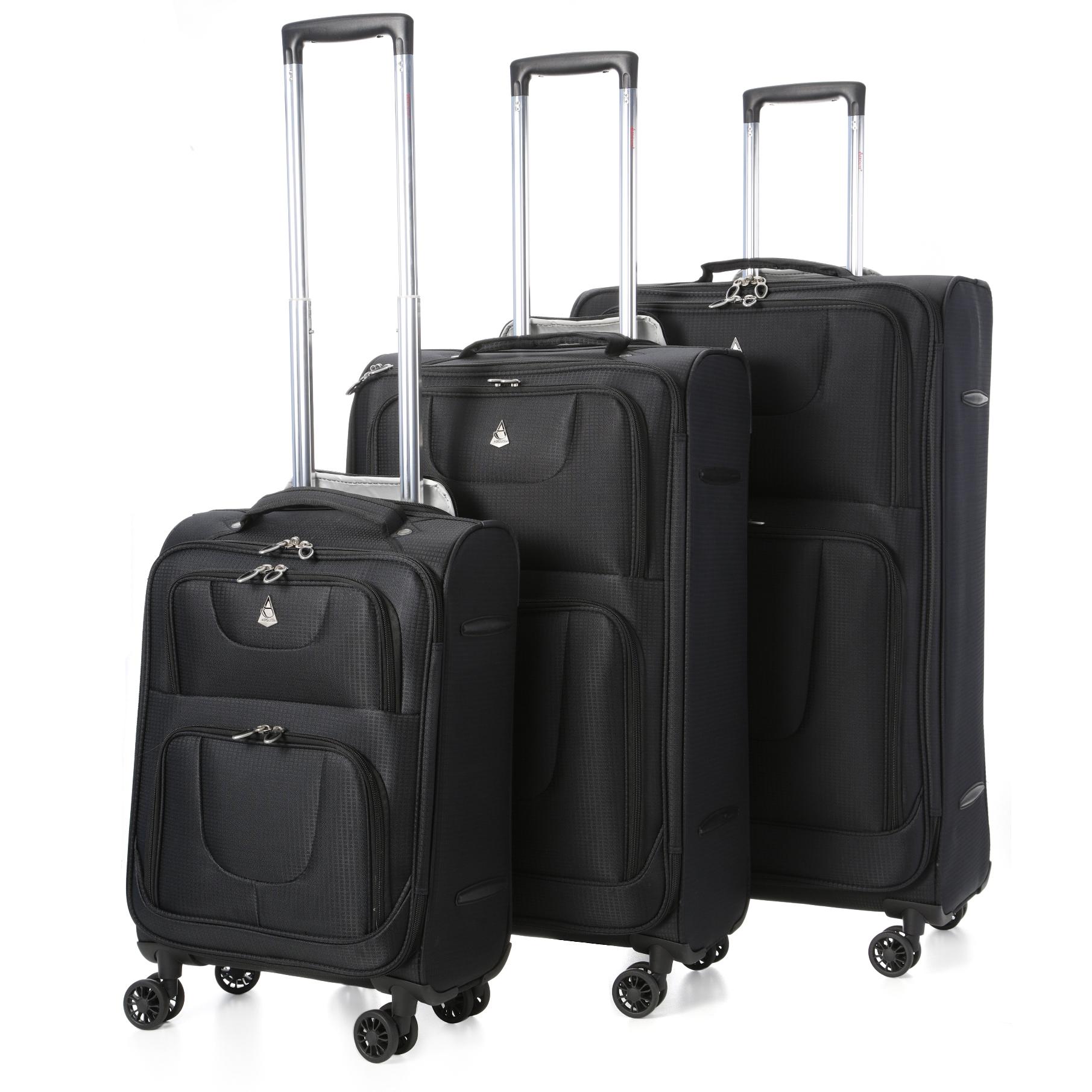 Aerolite Lightweight 8 Wheel Suitcase Sets-Cabin