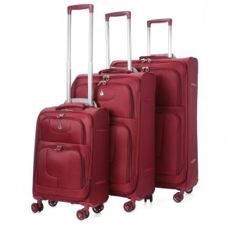 Aerolite Lightweight 8 Wheel Suitcase Sets-Cabin