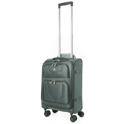 "Aerolite Ultra Lightweight Ripstop 21"" 8 Wheel Suitcase (Grey)"