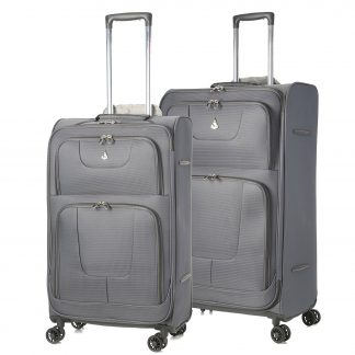 Aerolite Super Lightweight 8 Wheel Spinner Suitcases Cases - Set of 2