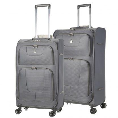 Aerolite Super Lightweight 8 Wheel Spinner Suitcases Cases - Set of 2