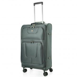"Aerolite AERO9978 600D Jacquard Ripstop 8 Wheel Spinner 26"" Suitcase"