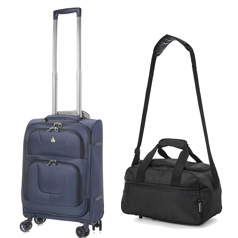 """Aerolite Super Lightweight Suitcase 8 Wheels 21"""" 55x35x20 + Bag"""