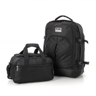 Set of 2 - 55x40x20cm Backpack & 35x20x20cm Second Hand Luggage Bag