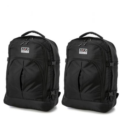 Set Of 2 Aerolite Max Backpack 55x40x20cm Cabin Hand Luggage/Carry On
