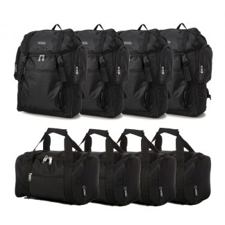 Set of 8: 4 x Ultra-Lightweight Backpack 55x40x20cm & Bag 35x20x20cm