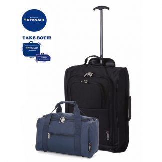 Hand Luggage Set Cabin Approved Suitcase 55x40x20cm 2nd Bag 35x20x20cm