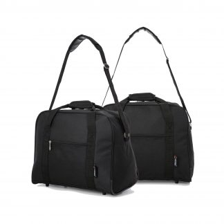 42x32x25cm Maximum Hand Luggage Cabin Holdall by 5 Cities Set of 2