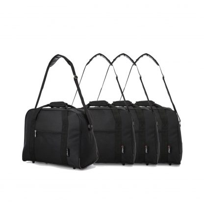 42x32x25cm Maximum Hand Luggage Cabin Holdall by 5 Cities Set of 4