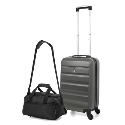 "Aerolite 21"" ABS Hard Shell 4 Wheel Suitcase + 35x20x20 Holdall"