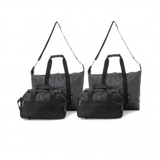 Set of 4: 2 x Ultra-Lightweight Holdall 55x40x20cm & Bag 35x20x20cm