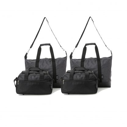 Set of 4: 2 x Ultra-Lightweight Holdall 55x40x20cm & Bag 35x20x20cm