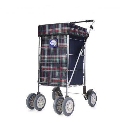 Marketeer 6 Wheel Deluxe Swivel Stroller Adjustable Soft Grip Handle