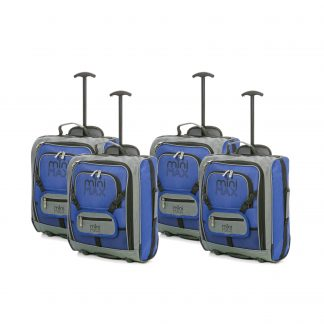 MiniMAX Childrens Suitcase with Backpack and Pouch - Set of 4