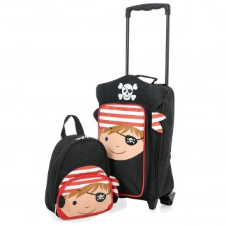 Kids Carry on Suitcase Travel Luggage Trolley (Pirate Trolley Bag)