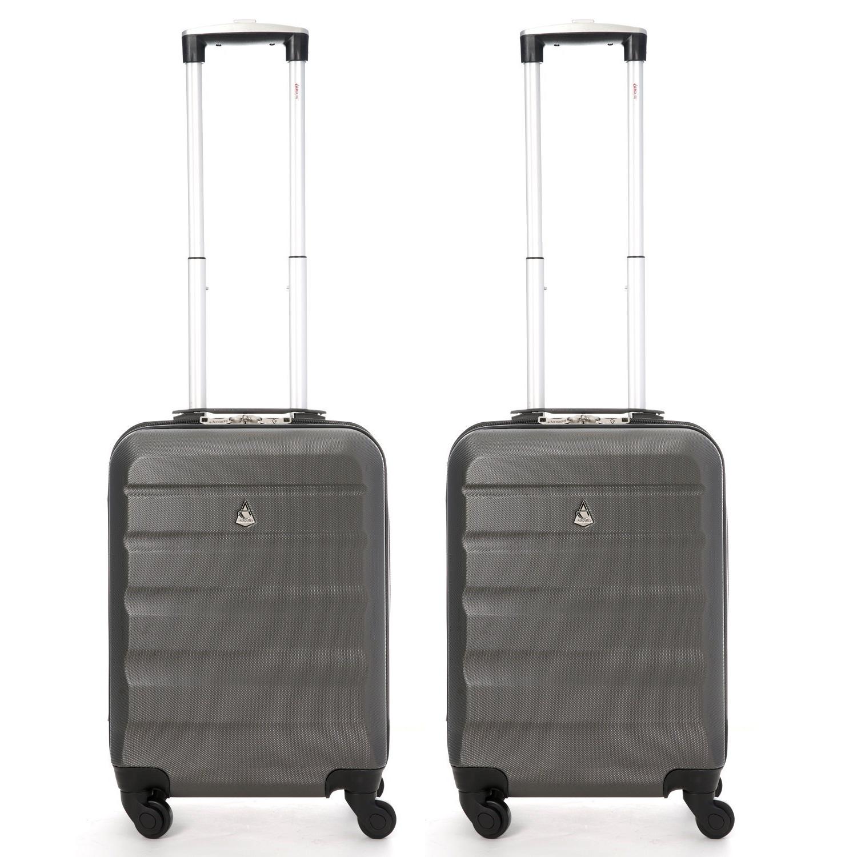 Aerolite Super Lightweight ABS Hard Shell Suitcase - 4 Wheels Set of 2