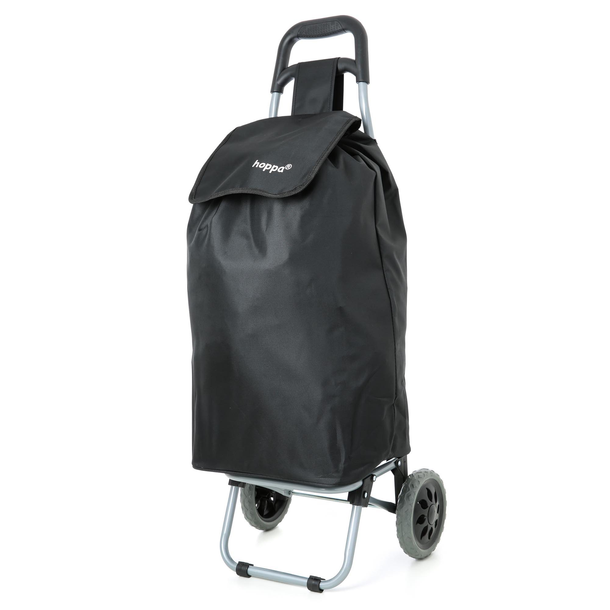 Hoppa Lightweight Shopping Trolley Folding 2 Wheel Large Capacity