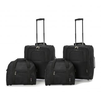 56x45x25cm & 40x30x15cm Main & Additional Cabin Bag - 2 Sets of 2