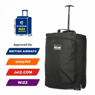55x40x20cm Maximum Cabin Hand Luggage Approved Trolley Bag