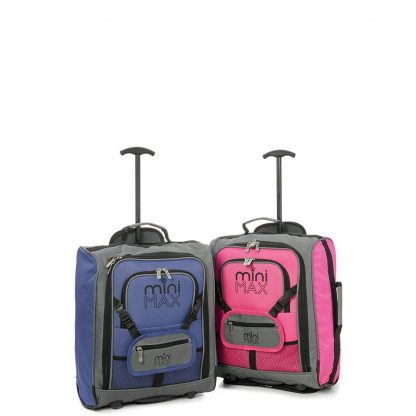MiniMAX Childrens Suitcase with Backpack and Pouch - Set of 2