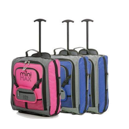 MiniMAX Childrens Suitcase with Backpack and Pouch - Set of 3