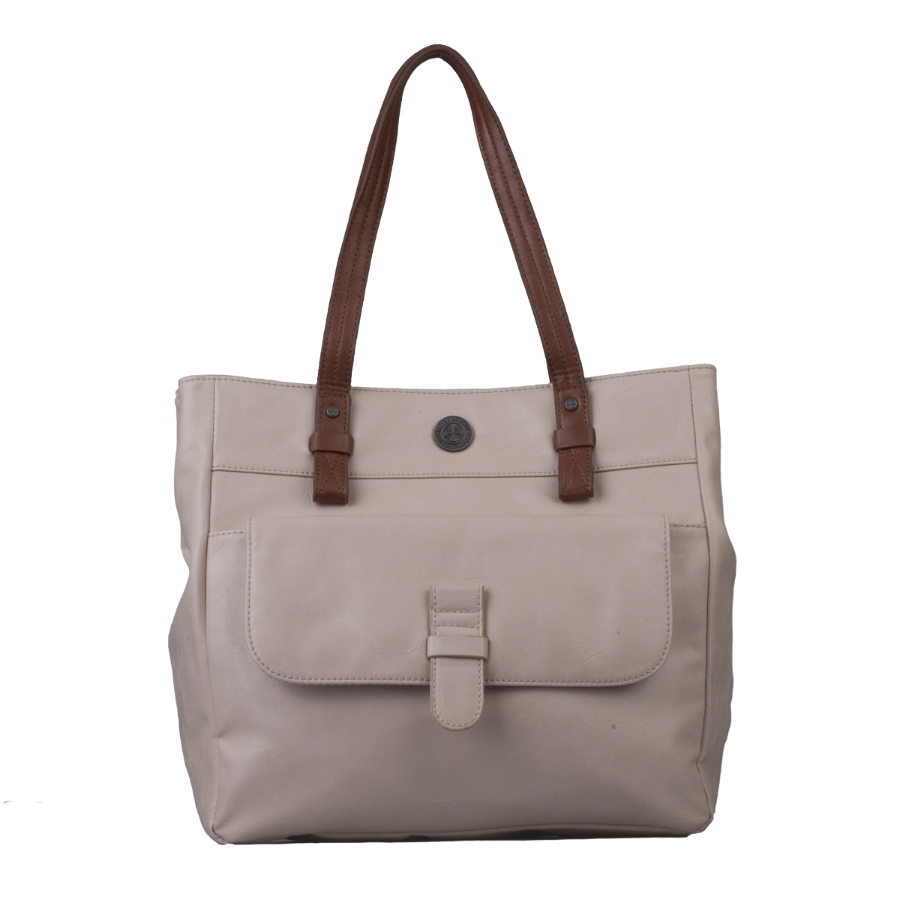 Brunotti Off White PU Shopper Bag BB4131-003