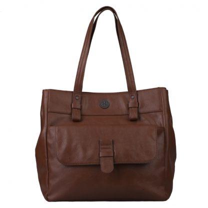 Brunotti Dark Brown PU Shopper Bag BB4131-804