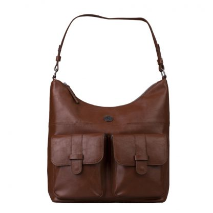 Brunotti Dark Brown PU Hobo Bag BB4132-804