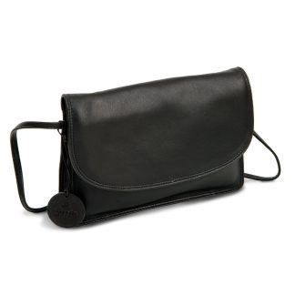LUCCIO Ladies Black Leather Grab Bag with Strap BMB003BLK
