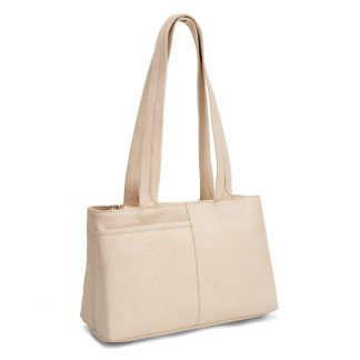 LUCCIO Ladies Cream Leather Grab Bag BMB005CRM