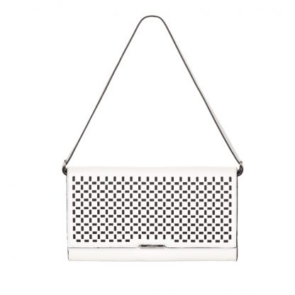 Fiorelli Dixie White Cut Out Clutch Bag FH8001-WHITE CUT OUT