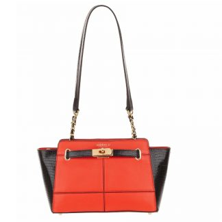 MODALU Marlow Black and Red Shoulder Bag MH4667-RED-BLK