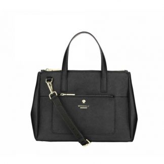 MODALU Pheobe Ladies Black Medium Grab Leather Bag MH4706-BLACK