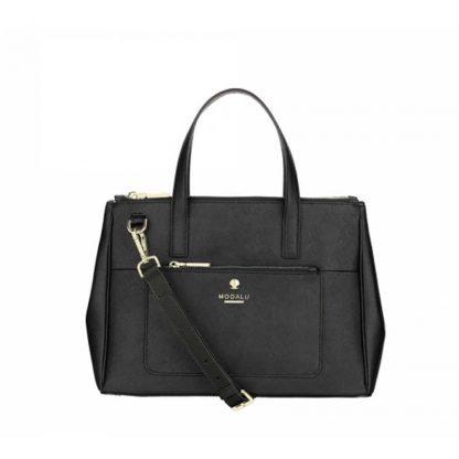 MODALU Pheobe Ladies Black Medium Grab Leather Bag MH4706-BLACK