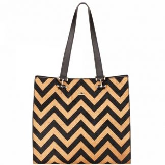 MODALU Cara Ladies Chevron Tote Bag MH4713 CAMEL CH
