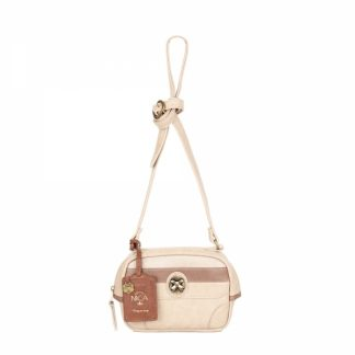 NICA Ladies Jamie Tan Mix Crossbody Bag NH5822-TAUPE