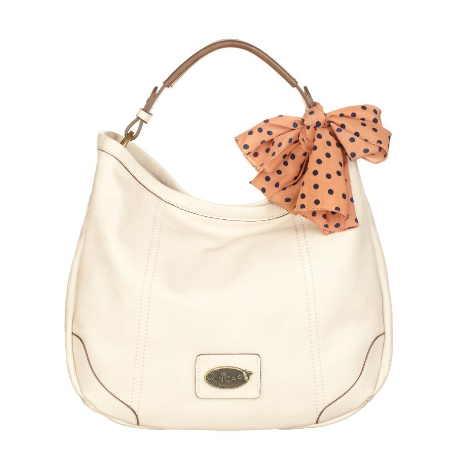 NICA Ladies Linda Bone Shoulder Bow Bag NH6012-BONE