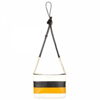 MODALU Twiggy Black Yellow Crossbody Bag MH4661 YELLOW M