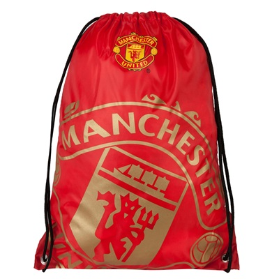 Manchester United Crest Foil Print Gym Bag